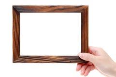 Marco de madera grande Foto de archivo