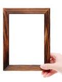 Marco de madera grande Foto de archivo libre de regalías