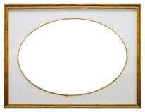 Marco de madera oval Imagen de archivo libre de regalías