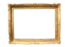 Marco de madera plateado oro Imagen de archivo libre de regalías