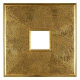 Marco de madera plateado oro Imágenes de archivo libres de regalías