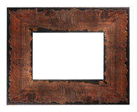 Marco de madera rústico Fotos de archivo