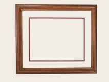 Marco de madera rectangular Foto de archivo
