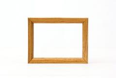 Marco de madera sobre blanco Fotos de archivo libres de regalías
