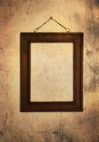 Marco de madera sucio Imagen de archivo