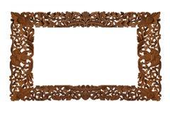 Marco de madera tallado fotos de archivo