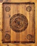 Marco de madera tallado Foto de archivo libre de regalías