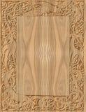 Marco de madera tallado de estilo celta Foto de archivo libre de regalías