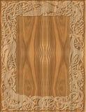 Marco de madera tallado de estilo celta Fotografía de archivo