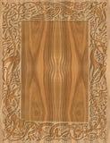 Marco de madera tallado de estilo celta Imagen de archivo