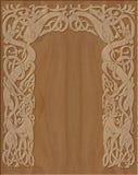 Marco de madera tallado de estilo celta Foto de archivo