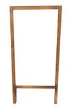 Marco de madera vacío de la pizarra Fotografía de archivo libre de regalías