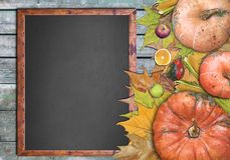 Marco de madera y frutas para el día de la acción de gracias Fotos de archivo