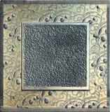 Marco de metales pesados del grunge, alivio, textura fuerte Fotos de archivo