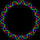 Marco de neón en colores del RGB Imagen de archivo libre de regalías