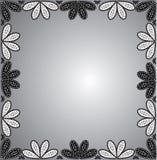 marco de ornamentos florales Imágenes de archivo libres de regalías