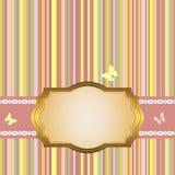 Marco de oro. Fotografía de archivo