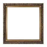 Marco de oro aislado Fotografía de archivo