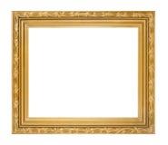 Marco de oro aislado Imágenes de archivo libres de regalías
