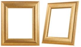 Marco de oro aislado fotos de archivo libres de regalías