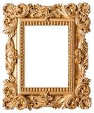 Marco de oro aislado en el fondo blanco Foto de archivo