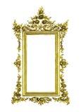 Marco de oro antiguo aislado imágenes de archivo libres de regalías