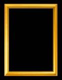 Marco de oro antiguo aislado en fondo negro Imagen de archivo libre de regalías