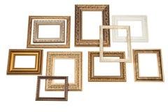 Marco de oro con el espacio en blanco. Imagen de archivo libre de regalías