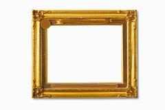 Marco de oro de la foto Imágenes de archivo libres de regalías