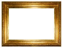 Marco de oro de la foto (camino de recortes) Imagenes de archivo