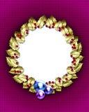 Marco de oro de la guirnalda Fotos de archivo libres de regalías