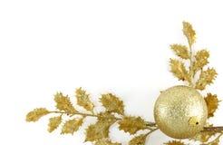 Marco de oro de la Navidad Fotos de archivo libres de regalías