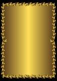 Marco de oro de la vendimia floral (vector) ilustración del vector
