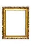Marco de oro decorativo del rectángulo imágenes de archivo libres de regalías