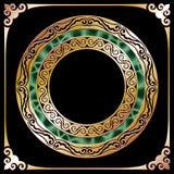 Marco de oro del círculo Fotos de archivo