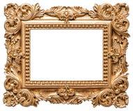 Marco de oro del estilo barroco Objeto del arte del vintage Fotografía de archivo libre de regalías