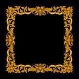Marco de oro del vintage aislado Imagen de archivo