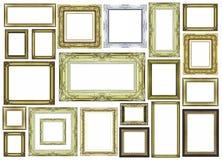 Marco de oro del vintage con el espacio en blanco Foto de archivo libre de regalías