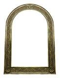 Marco de oro del vintage con el espacio en blanco en el fondo blanco Fotografía de archivo libre de regalías
