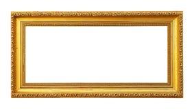 Marco de oro en blanco Foto de archivo