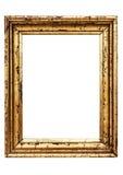 Marco de oro resistido con el camino Imágenes de archivo libres de regalías