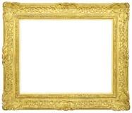 Marco de oro vacío Foto de archivo