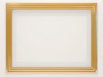 Marco de oro vacío de la foto Fotografía de archivo