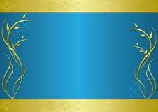 Marco de oro y azul con gradiente Fotos de archivo libres de regalías