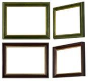Marco de oro de oro y marrón verde fotos de archivo