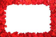 Marco de papel de los corazones Imagenes de archivo