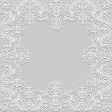 Marco de papel del cordón Fotos de archivo libres de regalías
