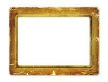 Marco de papel del oro para el retrato Fotos de archivo