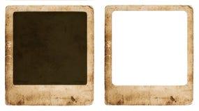 Marco de papel envejecido de la foto aislado en el fondo blanco Fotografía de archivo