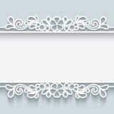 Marco de papel ornamental Fotografía de archivo